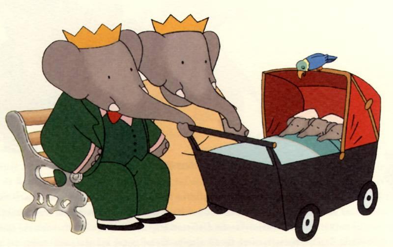 Babar Cartoon Family